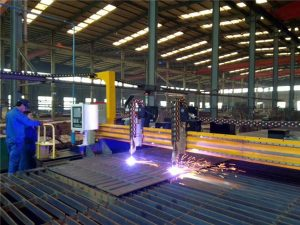 cnc gantry plasma machine cutting